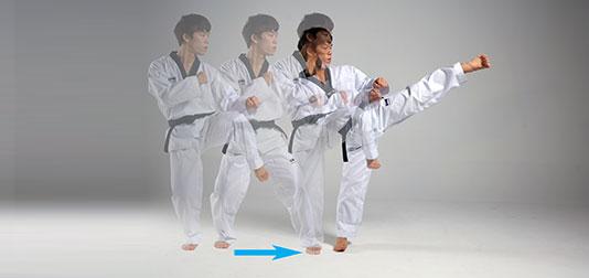 Gulleo-chagi (굴러차기)